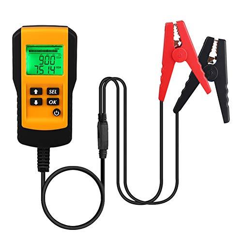 ADPOW バッテリーテスター バッテリーチェッカー バッテリー診断機 12V蓄電池用 LCD バッテリーアナライザ 自動車バッテリー診断 電圧 抵抗 CCA値測定