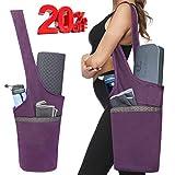 Ewedoos Yoga Mat Bag with Large Size Pocket and Zipper Pocket, Fit Most Size Mats (Purple)