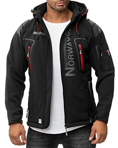 Geographical Norway Herren Outdoor Activity Jacke Modell Techno BANS Black S