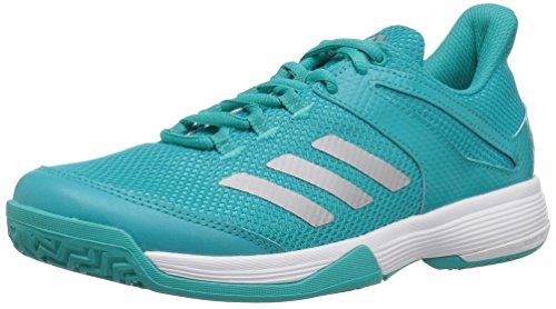 adidas Unisex Adizero Club Running Shoe, hi-res Aqua/Matte Silver/White, 11.5K M US Little Kid