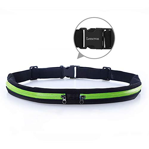 Limiwulw Waist Pack Bag Fanny Pack Hands Free Way to Carry Phone Passport Keys ID Money & Everyday Essentials - Adjustable Water Resistant Running Gear for Men and Women   Green
