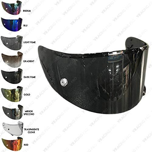 VRacing visera casco Shoei CWR-1 Nxr Ryd X-Spirit III 3 transparente ahumado oscuro dorado espejo cromado Pinlock Ready Aftermarket Multi taglia Fume' Scuro