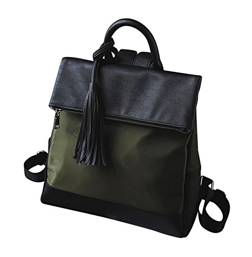 Kronya® | Elegante Handtasche und Rucksack aus Leder | Arbeit Büro Clutch Damen Damenhandtasche Damentasche Henkeltasche Schule Schulrucksack Schultasche Schultertasche Tasche Umhängetasche (Grün)
