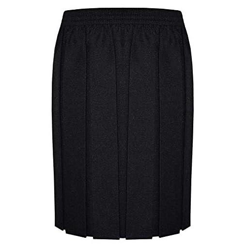 ZET-New-Girls-School-Uniform-Box-Pleat-Skirt-2-13-Years-Black-Grey-Navy