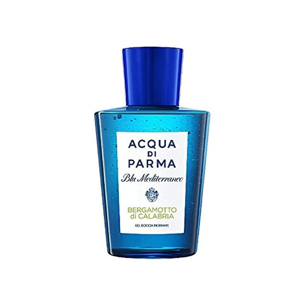 バランス大胆靄アクアディパルマブルーメディのディカラブリアシャワージェル200 x2 - Acqua Di Parma Blu Mediterraneo Bergamotto Di Calabria Shower Gel 200ml (Pack of 2) [並行輸入品]