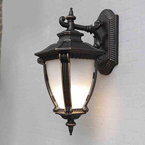 Mkj Wandlamp, Allee, lampen, spiegels, hoofdlampen, ganglampen, wandlampen voor buiten, metaal, zwart, acryl, klassiek, E27, wandlantaarn, traditionele stijl, Lam
