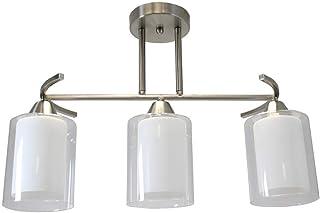 Lámpara de Techo Níquel Satinado de estilo Moderno con 3
