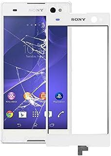 Förnyelse Reparation för skärmskydd IPartsbuy pekskärm för Sony Xperia C3 tillbehör (Color : White)