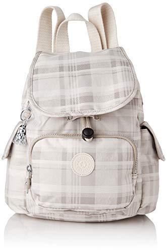 Kipling City Pack Mini, BACKPACKS Donna, Morbida plaid, 14x27x29 cm