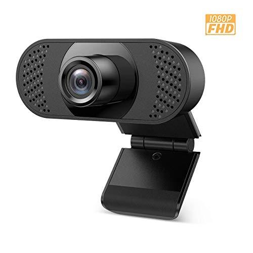 Ehome Webcam mit Mikrofon, Webcam 1080P für Laptop, Desktop, USB 2.0 Hd Webcam pc,mit automatischer Lichtkorrektur für Live-Streaming, Videoanrufe, Online-Unterricht, Konferenz, Spielen