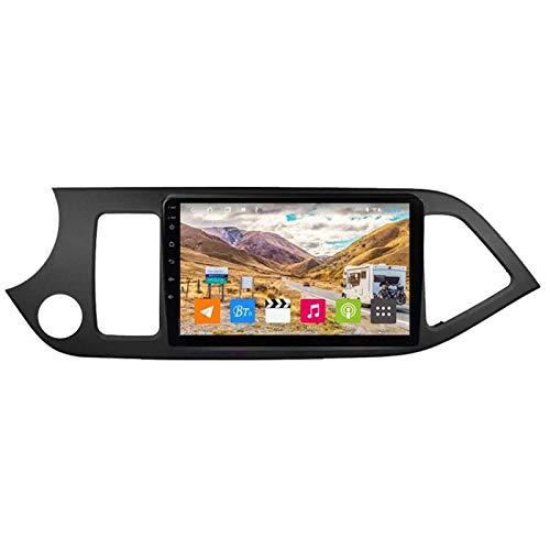 WY-CAR Navegación De Automóviles Estéreo De 9 Pulgadas 2.5D Pantalla Táctil HD para Kia Picanto 2011-2015, FM/Bluetooth/SWC/Enlace De Espejo/Cámara De Vista Trasera,8 Core-WiFi: 1+16G