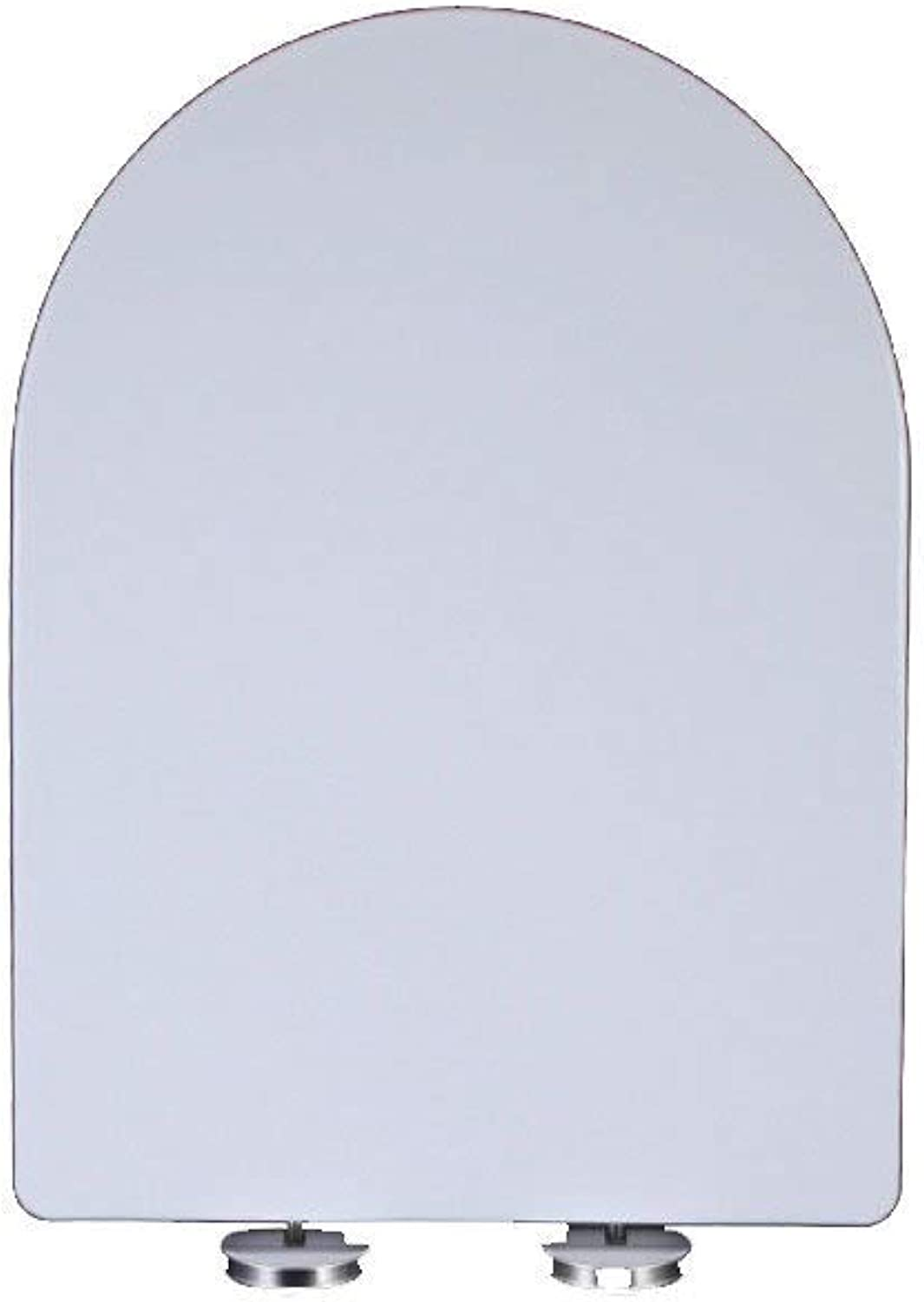 MMKJ White Toilet Seat, Soft Close Adjustable Hinge Quick Release Top Fixed Toilet Seat Cover Bathroom Lid Family Use,White44-48  36cm