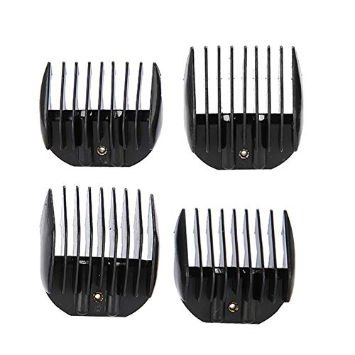 Guide Comb Set, 4PCS / Set Hair Limit Comb Guide Comb Set Black Clipper Onderdelen Kapselaccessoires