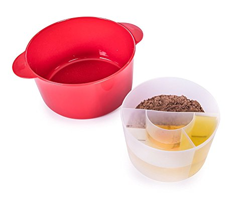 Betty Crocker BCB-3002 - Molde para microondas (plástico), color rojo