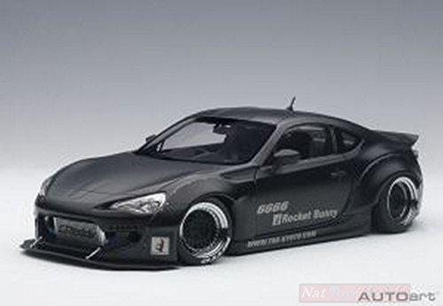 AUTOart AA78755 Rocket Bunny Toyota 86 Black W/Black Wheels 1:18 Die Cast Model Compatible con