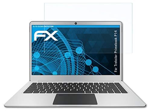 atFolix Schutzfolie kompatibel mit Trekstor Primebook P14 Folie, ultraklare FX Bildschirmschutzfolie (2X)