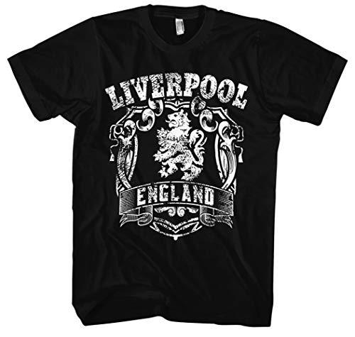 Liverpool Männer und Herren T-Shirt | Stadt Sport Fussball Trikot Ultras ||| M1 FB (3XL, Schwarz)