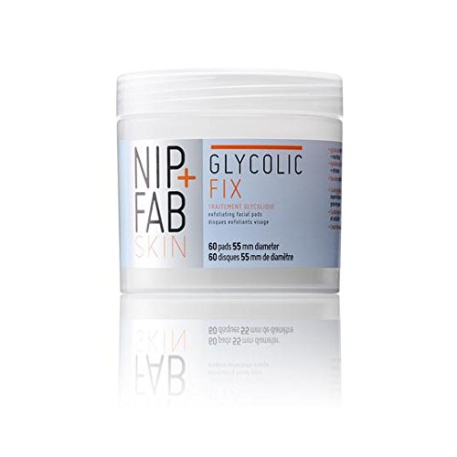 Nip Fab Glycolic Fix Exfoliating Facial Pads - 60 Count by Nip+Fab