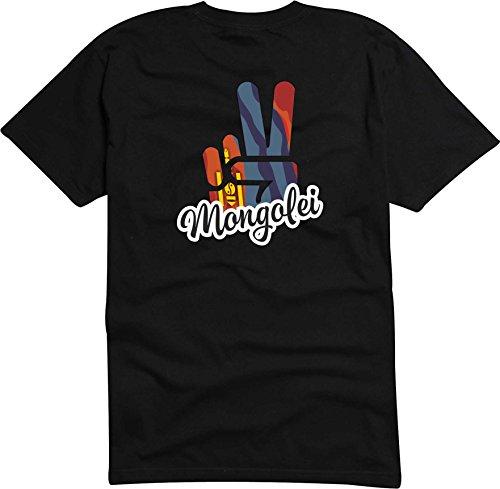 Black Dragon - T-Shirt Herren - JDM - Die Cut - schwarz - Flagge - Fahne - Mongolei - Victory - Sieg - S - Fussball Sport Boxen Fight