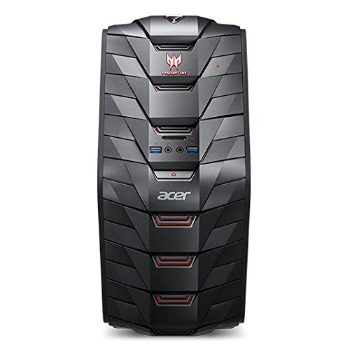 Acer Predator G3-710 - Ordenador de sobremesa (Intel Core i7-7700, 32GB RAM, 1TB HDD, Nvidia GTX1050Ti, Windows 10) Negro