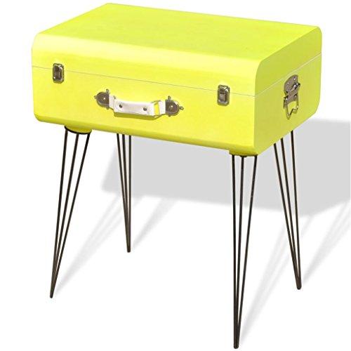 Mueble Mesa Auxiliar Vintage de Color Amarillo Dimensiones 49,5x36x60 cm