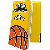 ケース Ascend D2 HW-03E 互換 手帳型 バスケ バスケット バスケットボール ボール スポーツ デザイン イラスト アセンド 手帳型ケース ユニーク おもしろ おもしろケース HW03E AscendD2 かっこいい [Yf95463dGc]
