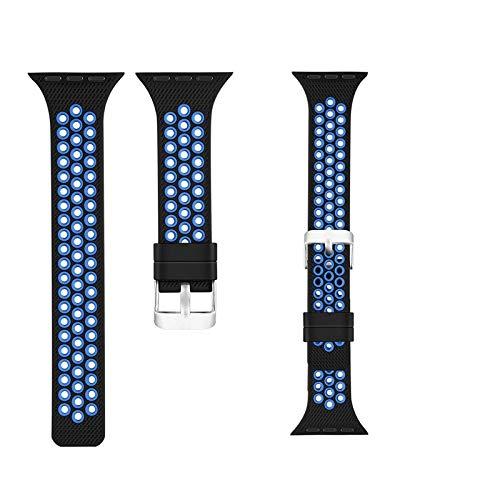 Reloj Correa para Apple Watch Series 6 & SE5 y 444mm / 3 y 21 42mm para SmartWatches (Color : Black Blue)
