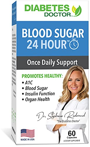 Diabetes Doctor Daily Support - Blood Sugar 24 Hour - 7 in 1 Blend of Natural Vitamins, Herbs, & Minerals to Support Healthy Blood sugars, A1C, and Organ Health