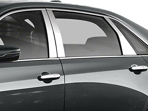 QAA fits 2016-2020 Cadillac CT6 6 Piece Stainless Pillar Post Trim PP56231