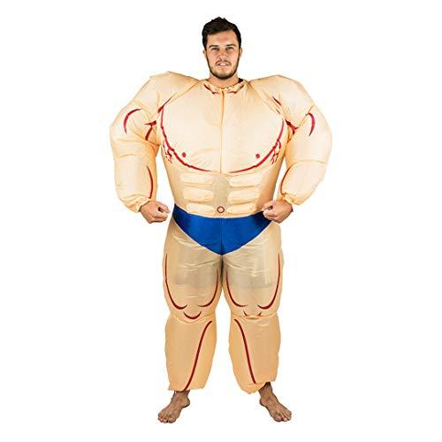Bodysocks® Aufblasbares Bodybuilder Muskel Mann Anzug Kostüm für Erwachsene