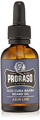 PRORASO Beard Oil, 30 ml/1 oz, Azur Lime