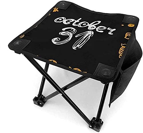 Taburete plegable portátil, diseño de búho, de Halloween, para camping, pesca, picnic, viajes, senderismo y otras actividades al aire libre