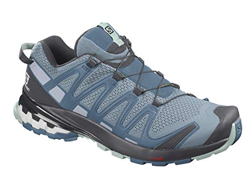 Salomon XA PRO 3D v8 W Zapatillas De Trail Running Y Sanderismo Versión Màs Ligera De Mujer, Ashley Blue/Ebony/Opal Blue, 40 EU