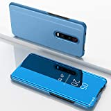 SWMGO® Espejo Enchapado Flip Funda para Xiaomi Redmi K20 Pro (Cielo Azul)