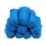 CLISPEED 200 Piezas de Calzado Higiénico Desechable Cubre Cubrebotas de Plástico para Construcción Médica Lugar de Trabajo Alfombra Interior Piso Protección Azul