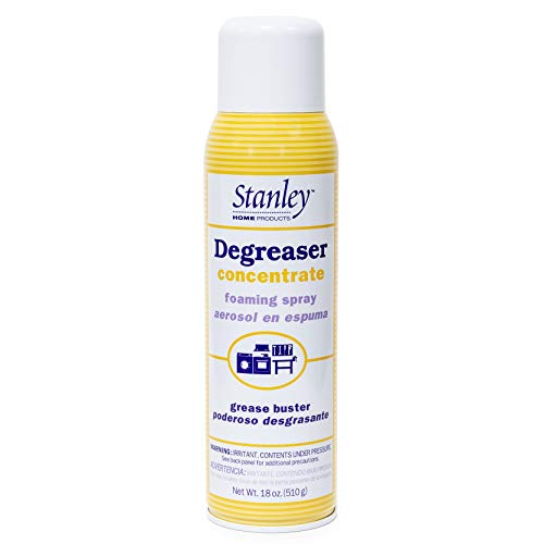 Stanley Home Products Degreaser Concentrate Foaming Spray - All Purpose Commercial & Industrial Grease Remover & Grime Cleaner For Kitchen, Bike, Car & Boat