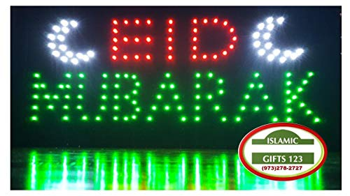 Halal Eid Mubarak Open Led Sign Led Neon Light Open Sign Highly Visible With Color Animation Power On Off Islamic Sign Islamic Gifts 123 Usa Seller Fast Delivery Eid Mubarak Black Buy Online In Azerbaijan At Azerbaijan Desertcart Com Productid
