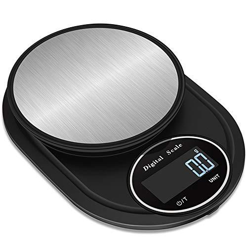 XUBX Balance de Cuisine Électronique, Balance numérique de Cuisine de Haute Précision, 5kg/0.1g, Tactile Sensible Écran LCD Affichage, Fonction Tare/Zéro, Piles Fournies