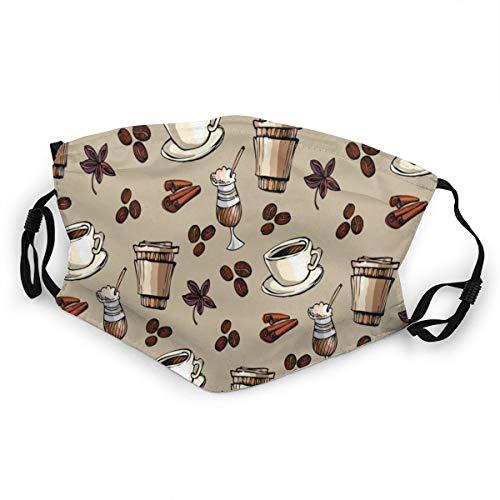 Mundschutz für Kinder, Kaffeebohnen-Eiscreme, verstellbares Gesicht, Anti-Staub für Jungen und Mädchen, 1 Stück