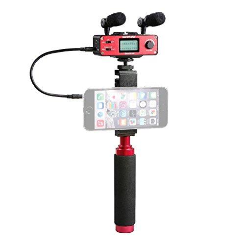 Saramonic Ultimate Smartphone Kit video con doppio microfono stereo, mixer audio e stabilizzatore per Apple iPhone 5, 5C, 5S, 6, 6S, 7, 8, X (normale e Plus), Samsung Galaxy e altro