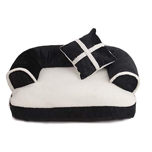 Huisdier Dog Bed,Orthopedische Pluche Bank, Traditionele Woonkamer Bank Huisdier Bed W/Verwijderbare Cover voor Honden & Katten M