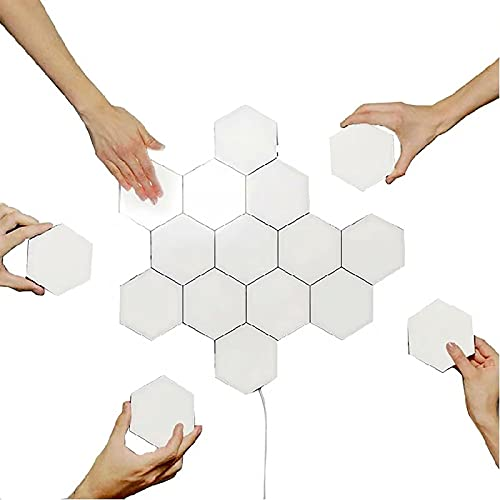 SHUAIGE Spliging Led Led Smart Smart Hexagonal Lámpara De Pared Modular Honeycomb Touch Sensor Lámpara Lámpara De Alto Brillo Led para Iluminación De Pared Interior (tamaño: 5 Pcs)(Size:5pc)