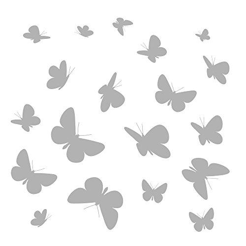 Komar - Windowsticker Vlinders - 31 x 31 cm - raamdecoratie, raamsticker, raamfolie, silhouet, abstract - 16004