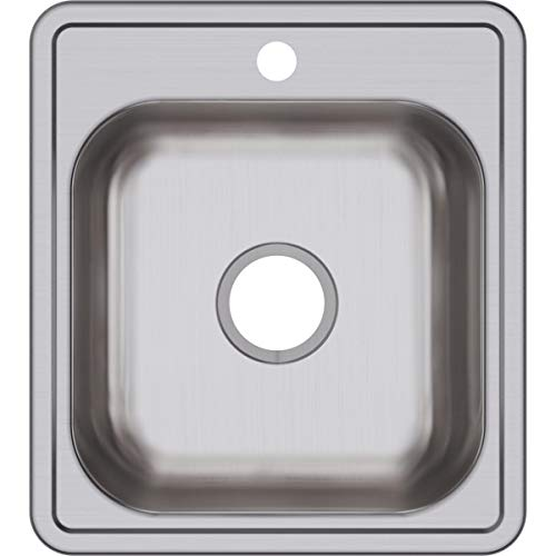 Dayton D117191 Single Bowl Top Mount Stainless Steel Bar Sink