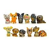 FINIMY Figuras de Perro Modelo muñeca para Mascotas 12 unids/Set Kawaii PVC Cachorro en Miniatura decoración del hogar Mini Figuras de Perros de Dibujos Animados Adornos de Animales