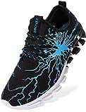 BRONAX Zapatos para Correr Hombre Zapatillas de Deportes Tenis Deportivas Running Calzado Trekking Sneakers Gimnasio Transpirables Casual Montaña Negro Azul 39