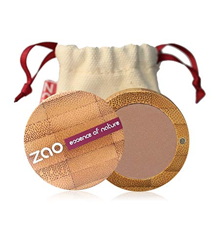 ZAO Matt Eyeshadow 208 nude braun-rosa Lidschatten nachfüllbar in Bambus-Dose