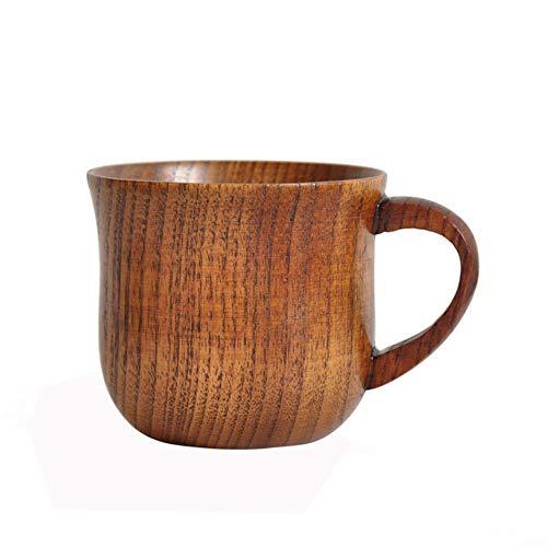 Viner 1PC Nieuwe houten beker Hout Koffie Thee Bier Sap Melk Water Mok Primitieve handgemaakte natuurlijke houten beker, 7.6x6.8cm