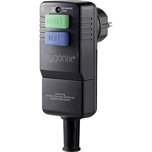 Sygonix SY-3779070 Schutzkontakt-Winkelstecker Kunststoff mit PRCD 230 V Schwarz IP54