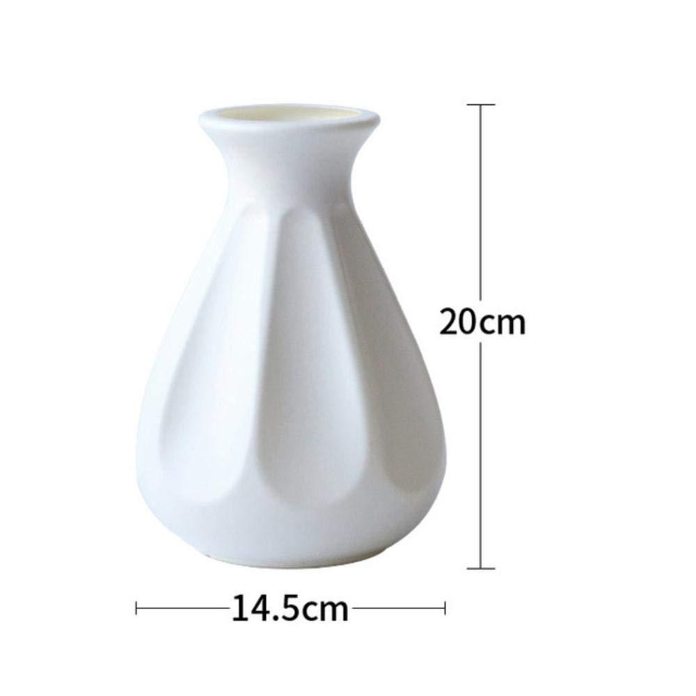 Asbjxny Europe C/éramique Vase Jaune g/éom/étrie Origami Vases en Porcelaine Arts et M/étiers dart Fleurs vases de Mariage d/écoration de la Maison Accessoires-M